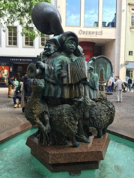 The Sheep Fountain Outside Oberweis in Luxembourg Photo: Heatheronhertravels.com