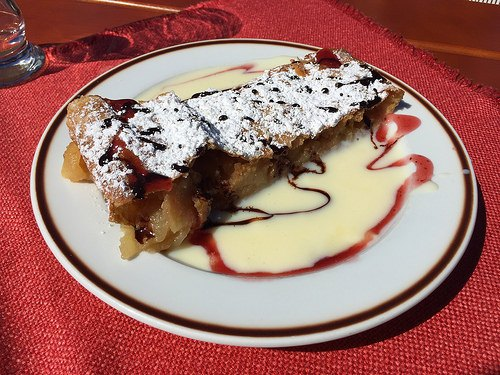 Apple Strudel at Wildermoosalm near Seefeld, Austria Photo: Heatheronhertravels.com