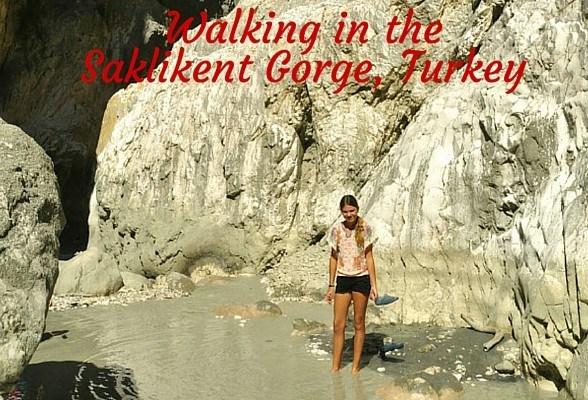 A family trek in the Saklikent Gorge, Turkey