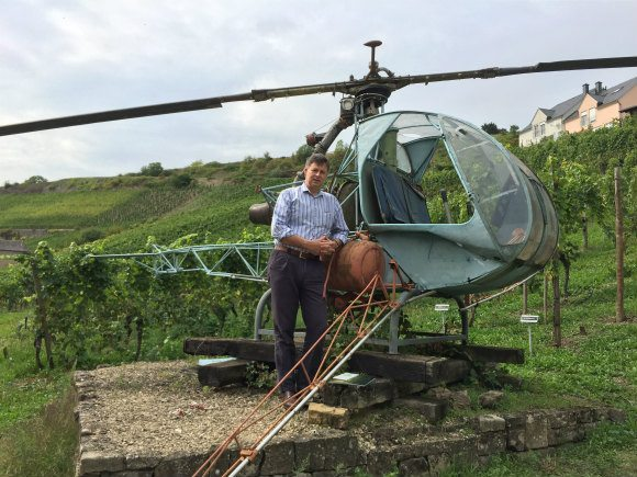 Guy with the Helicopter at the Wine museum Ehnen in Luxembourg Photo: Heatheronhertravels.com