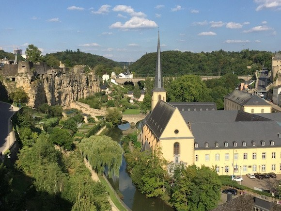 View of the Petrusse Valley in Luxembourg