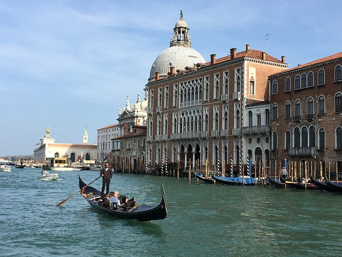 Gondola on the Grand Canal in Venice Photo: Heatheronhertravels.com