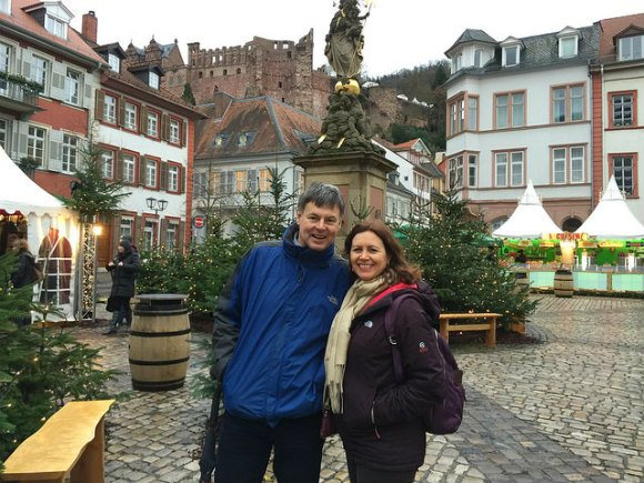 Heather and Guy in Heidelberg Photo: Heatheronhertravels.com