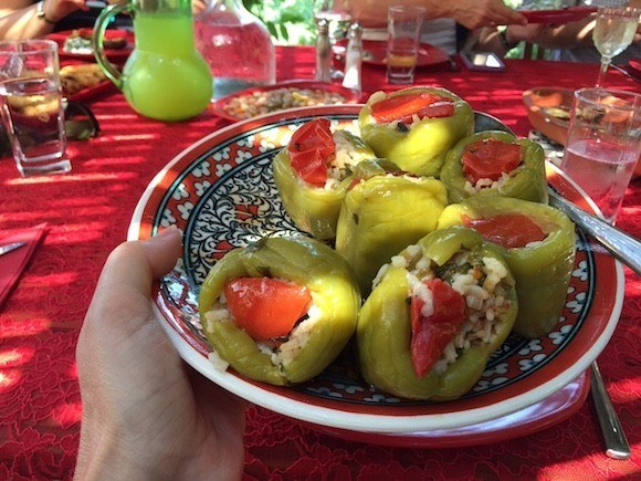 Stuffed peppers in Turkey