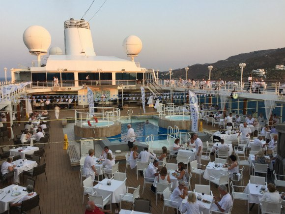 Azamara Journey White night party Photo: Heatheronhertravels.com