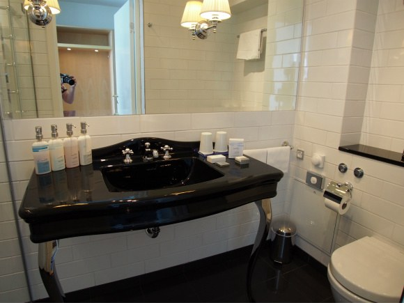 Bathroom at Kurhotel Skodsborg, Copenhagen Photo: Heatheronhertravels.com