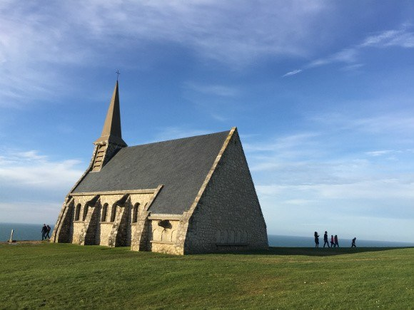 Chapel de Notre Dame at Etretat in Normandy Photo: Heatheronhertravels.com