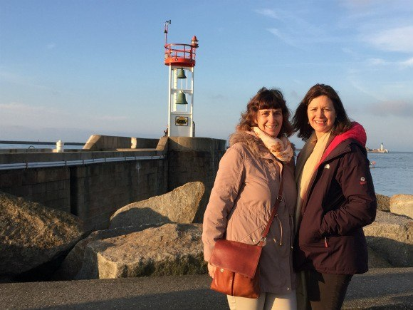 Heather and her sister at Le Havre in France Photo: Heatheronhertravels.com