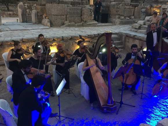 Orchestra at Ephesus with Azamara Club Cruises Photo: Heatheronhertravels.com