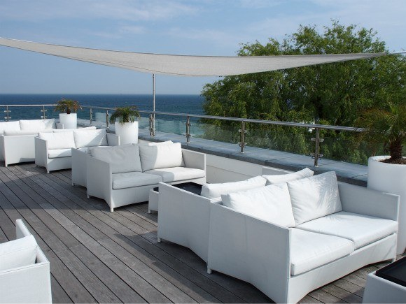 Roof terrace at Kurhotel Skodsbourg Photo: Heatheronhertravels.com
