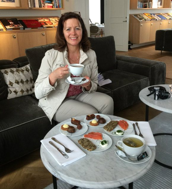 Tea with Georg at Kurhotel Skodsborg in Copenhagen Photo: Heatheronhertravels.com