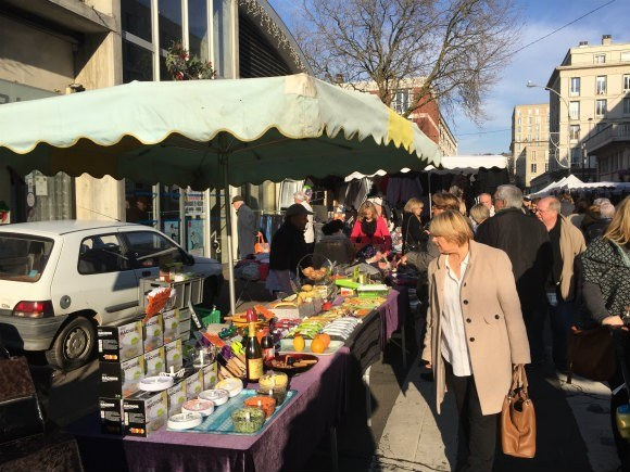 The Sunday market at Le Havre in France Photo: Heatheronhertravels.com