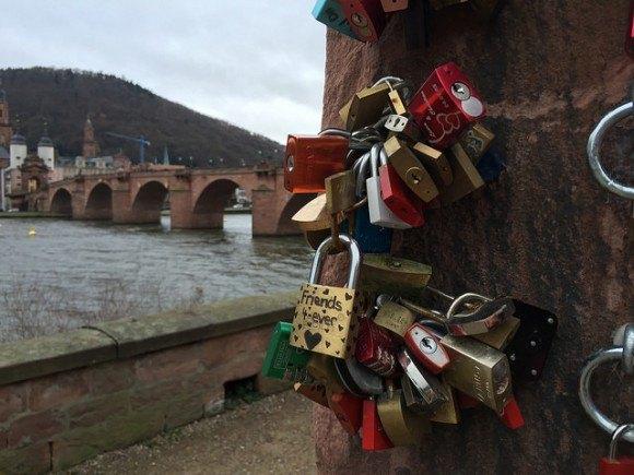 Padlocks on the Love stone in Heidelberg Photo: Heatheronhertravels.com