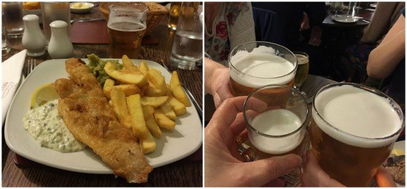 Fish and chips at the Britannia Inn at Elterwater Photo: Heatheronhertravels.com
