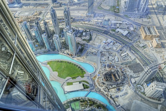 The view from Burj Khalifa in Dubai Photo: TravelwithKat.com