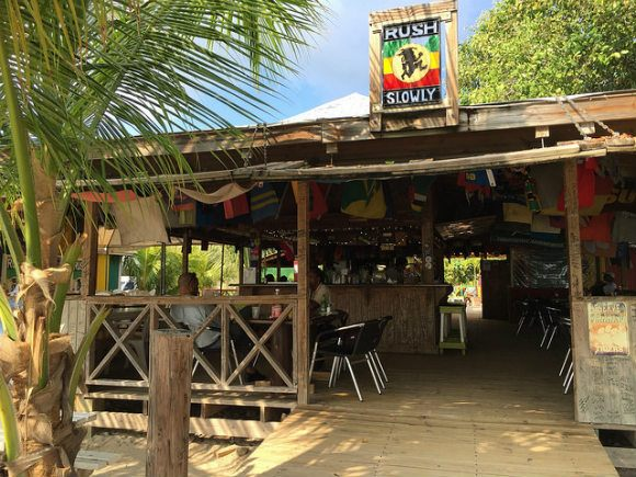 Reggae beach bar on St Kitts Heatheronhertravels.com