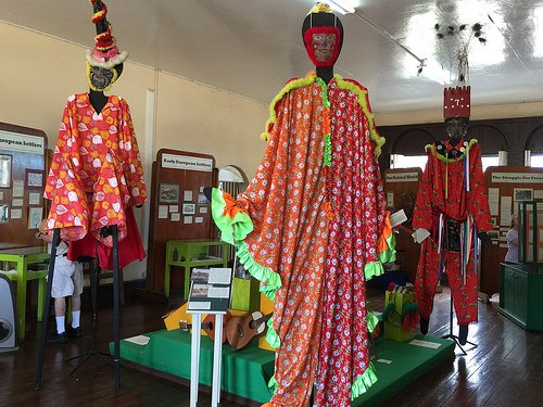 Carnival costumes in the National Museum St Kitts