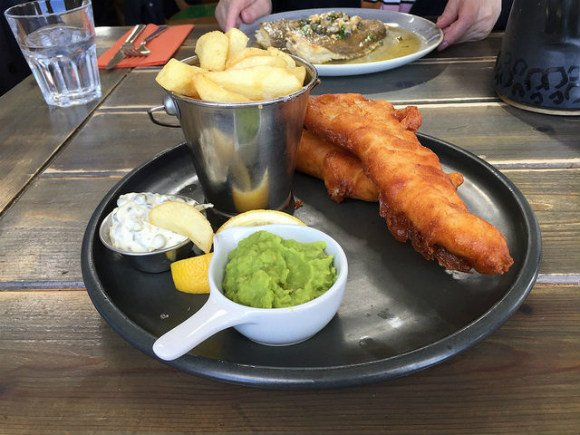 Fish and chips at Harry's Shack at Portstewart Heatheronhertravels.com