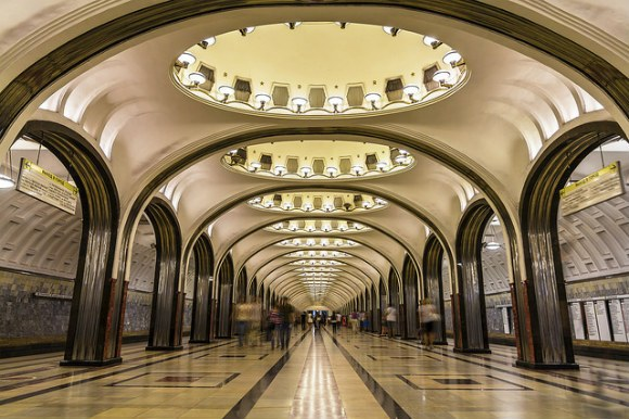 Inside the Moscow metro Photo: Audley Travel