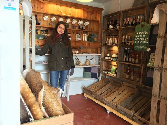 Meeting Becky Cole at the Farm shop at Broughgammon farm near Ballycastle Heatheronhertravels.com