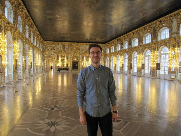 Nick in the ballroom, Catherine's Palace Photo: Audley Travel