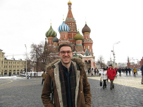 Nick outside St Basil's Cathedral, Moscow Photo: Audley Travel