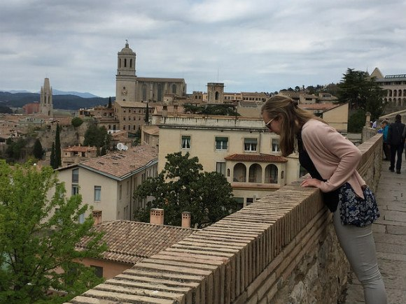 Walking the walls in Girona Heatheronhertravels.com
