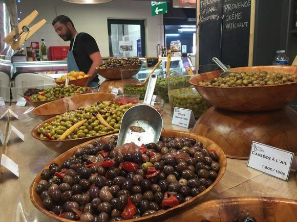 Olives in the market at Avignon Photo: Heatheronhertravels.com