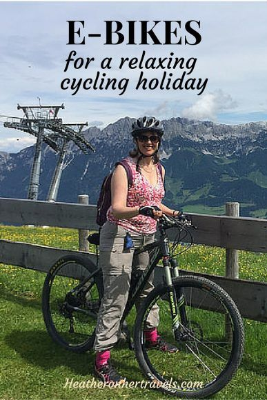 Read about ebikes for a relaxing cycling holiday