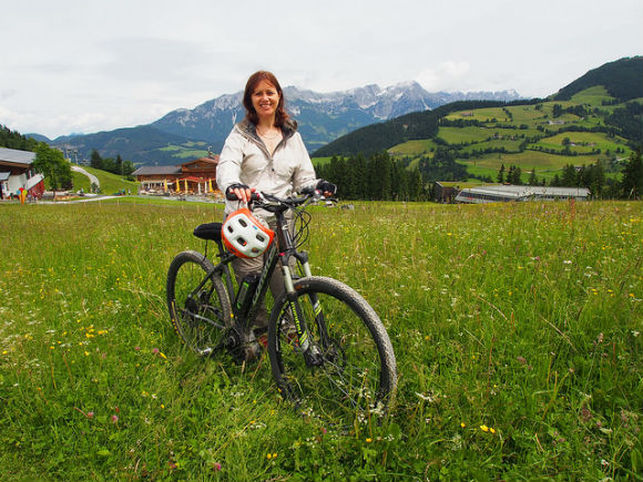 Mountain Biking in Wilder Kaiser as part of Alpine Sports Week Heatheronhertravels.com