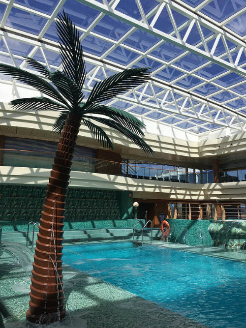The indoor pool on board MSC Splendida Heatheronhertravels.com