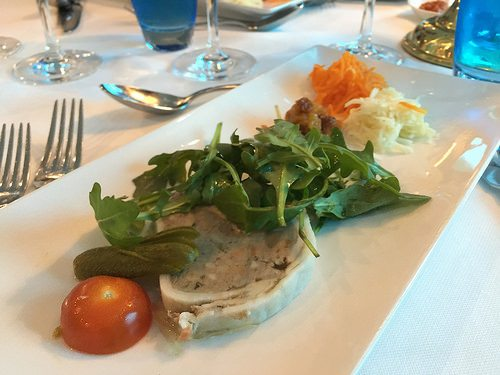Lunch on our Uniworld Cruise Photo: Heatheronhertravels.com