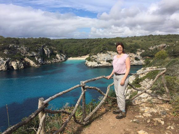 On the cliffs, walking on southern Menorca Photo: Heatheronhertravels.com