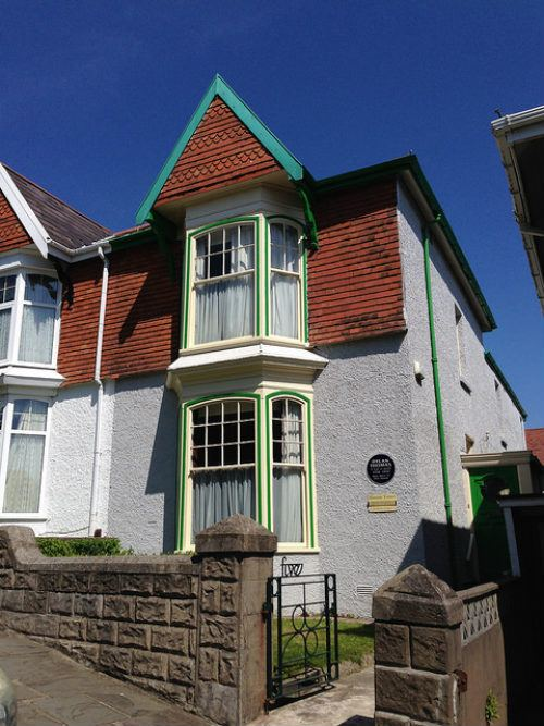 Birthplace of Dylan Thomas, 5 Cwmdonkin Drive, Swansea Photo: Heatheronhertravels.com
