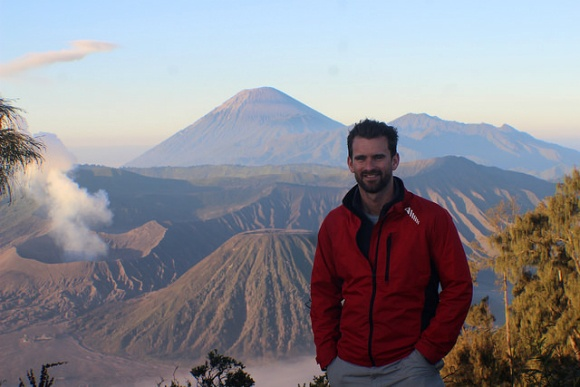 Mat at the Bromo Tengger Semeru National Park viewpoint, Java Indonesia Photo: Heatheronhertravels.com