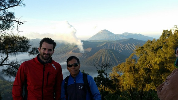 Mount Bromo viewpoint with my Guide Anwar Photo: Heatheronhertravels.com