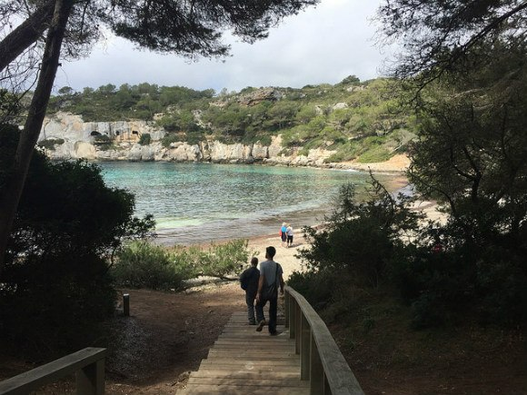 Walking down to Cala Macarella, Menorca Photo: Heatheronhertravels.com