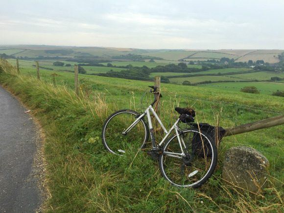 A view over Dorset on our cycle ride Photo: Heatheronhertravels.com