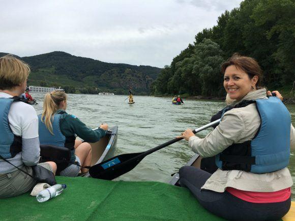 Canoeing on the Danube with Avalon Waterways Photo: Heatheronhertravels.com