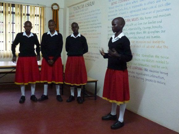 Pupils at Kisaruni school in Kenya Photo: Audley Travel