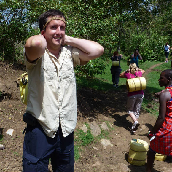 Mark collecting water in Kenya Photo: Audley Travel