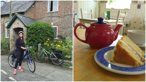 Moreton tea rooms on our Dorset cycle ride Photo: Heatheronhertravels.com