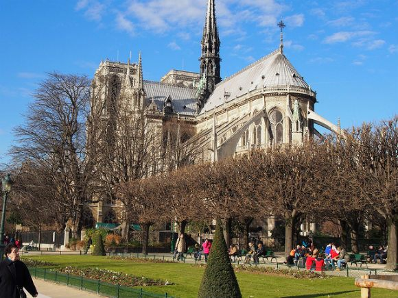 Notre Dame de Paris from Square Jean-XXIII Photo: Heatheonhertravels.com
