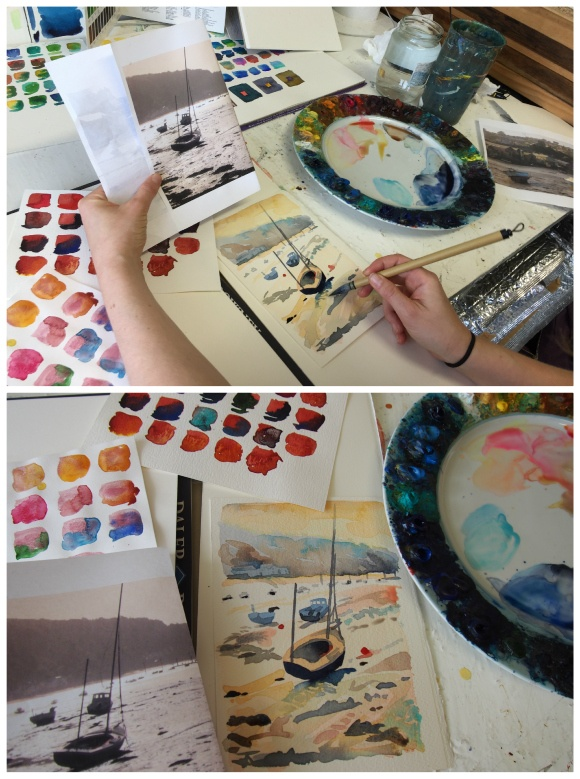 Boat painting by Abigail McDougall