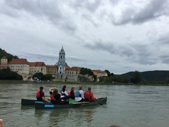 Canoeing down to Durnstein with Avalon Waterways Photo: Heatheronhertravels.com