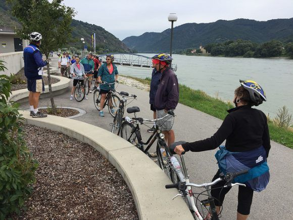 Cycling by the Danube in Austria Photo: Heatheronhertravels.com
