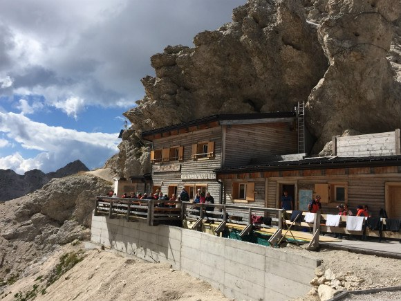 Mountain huts in the Dolomites