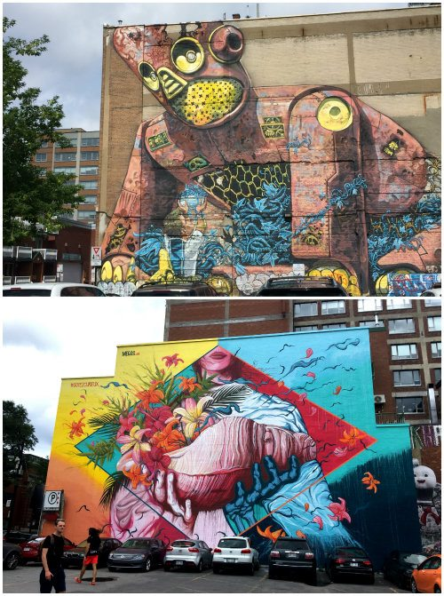 Street art in Montreal, Canada Photo: Heatheronhertravels.com