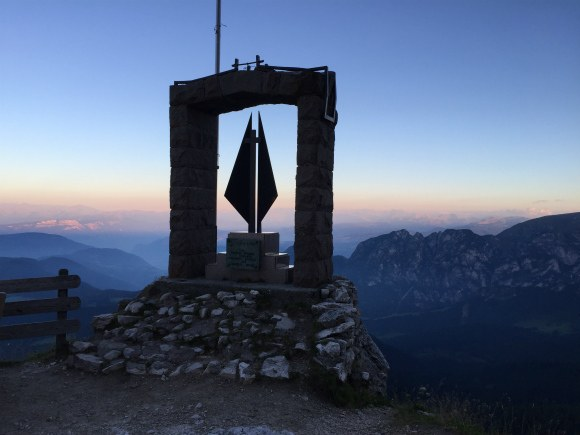 Sunset in South Tyrol at Kolnerhutte