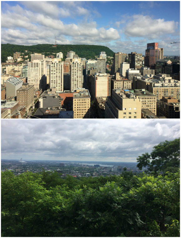 View from Le Centre Sheraton Montreal and from Mont Royal Park across the city Photo: Heatheronhertravels.com